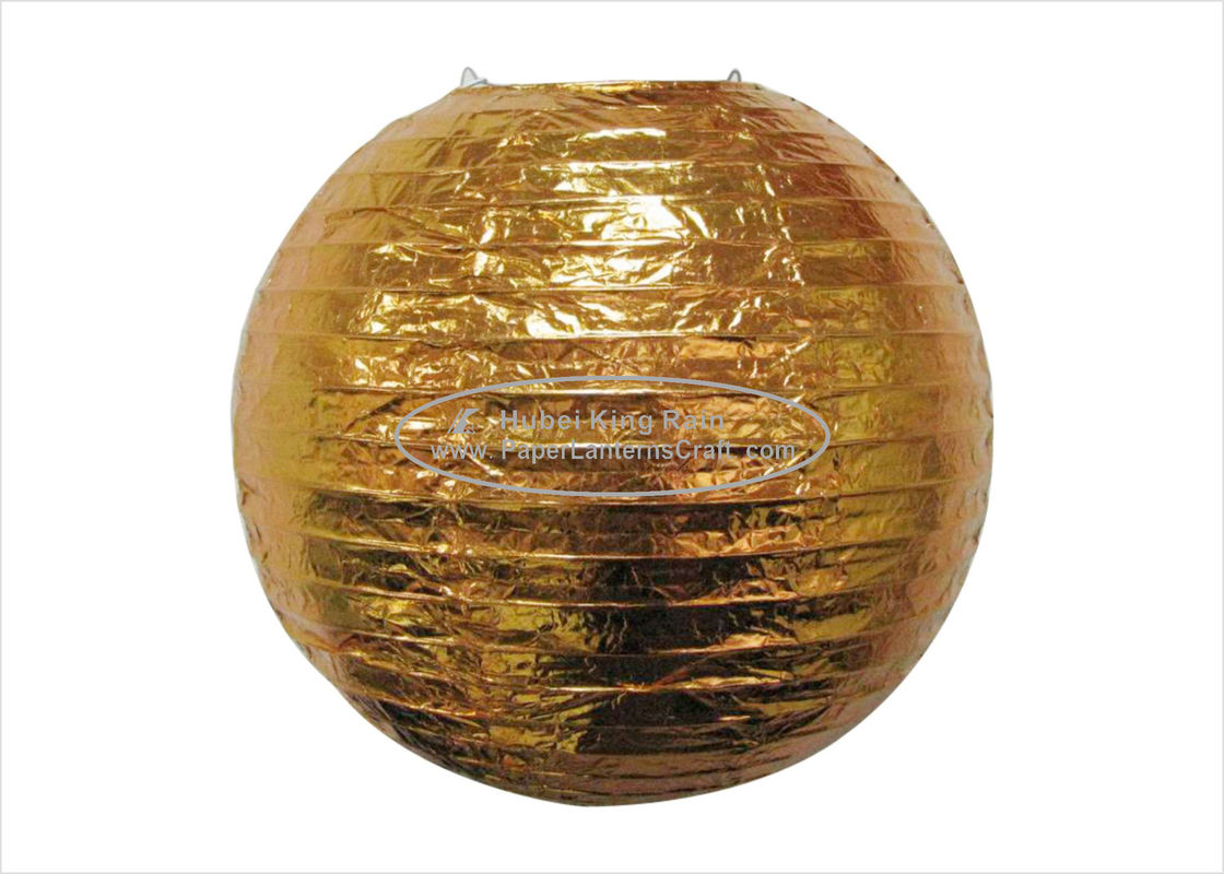 "buy Hot Foil Round Paper Lanterns  8"" 10""12""14"" 16"" Handmade Craft Decoration online manufacturer"