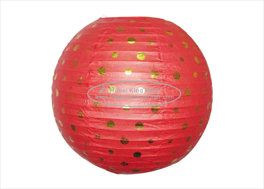 "buy Red 12"" foldable hanging paper lantern / circle paper lanterns customized online manufacturer"