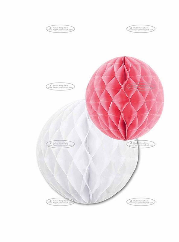 China Dia 30cm & 25cm Paper Honeycomb Balls Combination Pom Poms For Party factory