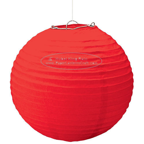 buy Solid Color Round Paper Lanterns For Party , Hanging Paper Lanterns Dia 10cm -20cm online manufacturer