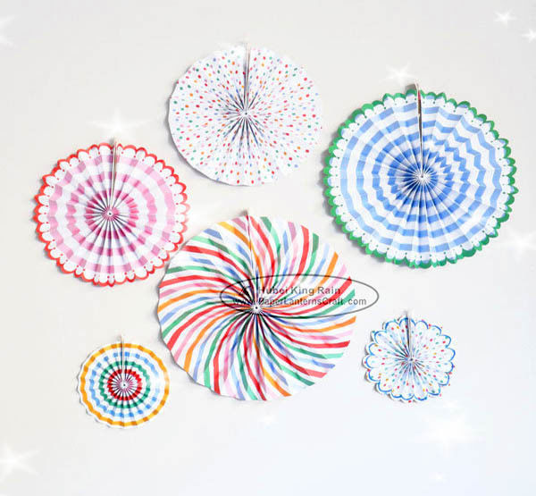 Candy Color Paper Fan Hanging Inside Door Decorations