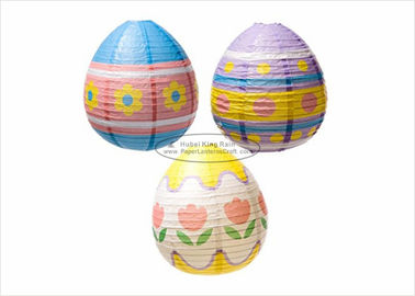 "Hand Painted Paper Easter Decorations 10"" 12"" 14"" Decorative Easter Eggs Home Decor"